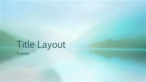 Free Widescreen Tranquil Lake And Mountain Powerpoint Template Widescreen Powerpoint Templates