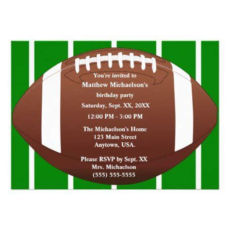 Football Birthday Invitation Templates Football Themed Invitation Template