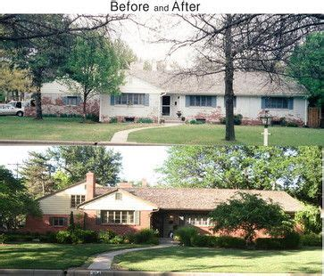 brick house renovation before and after 30 best images about before after exterior renovations on pinterest fiberglass