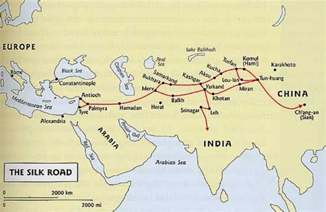silk road map the silk road east asia collection umd libraries