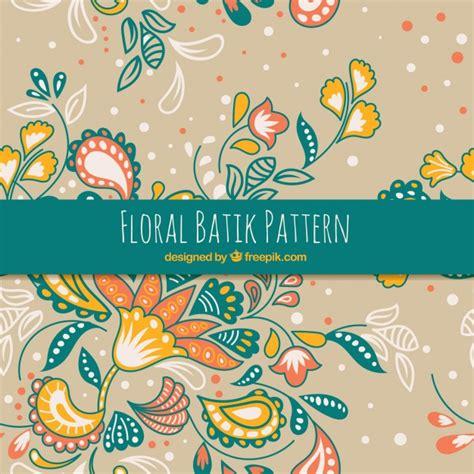 free download batik pattern photoshop hand drawn batik floral pattern vector free download
