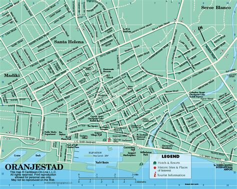 printable aruba road map aruba map of oranjestad aruba from caribbean on line