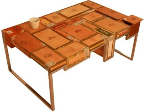 Cigar Table by Habana Coffee Table Built From Used Cigar Boxes