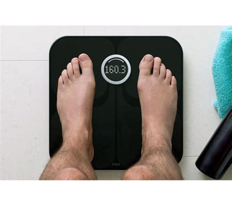 fitbit bathroom scale buy fitbit aria wifi smart bathroom scales black free