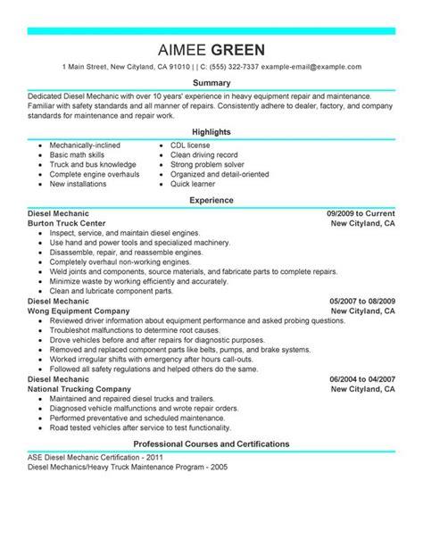 marine mechanic resume resume ideas