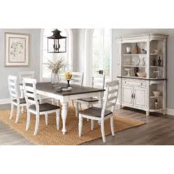 country 7 dining room rectangular table with