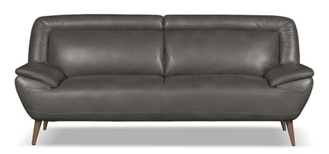 the brick leather couches roxy leather look fabric studio size sofa grey the brick