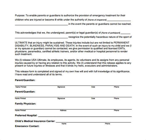 medical authorization form 9 download free documents in