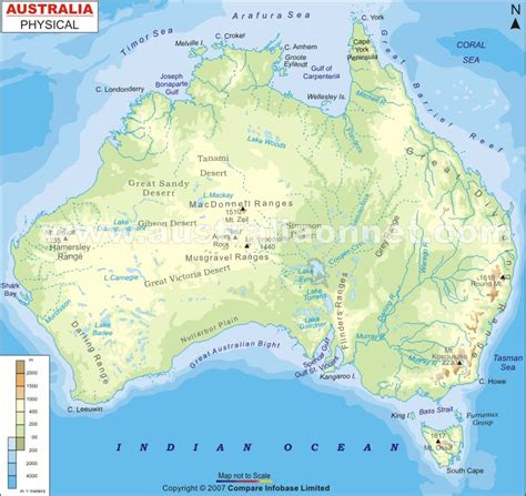 geographical map australia physical map of australia images