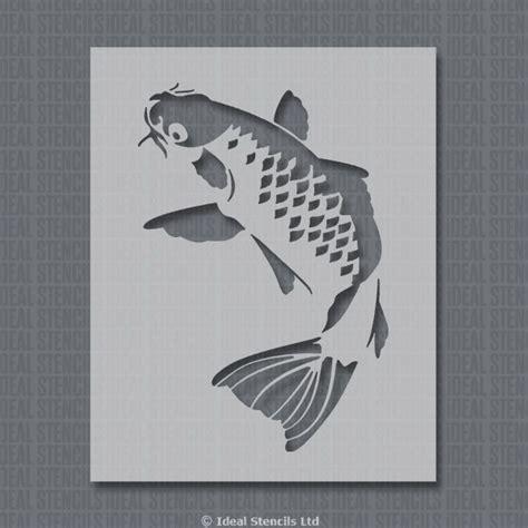 Letter S Home Decor koi carp fish stencil ideal stencils