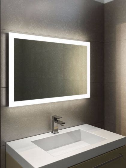 halo wide led light bathroom mirror 841h illuminated