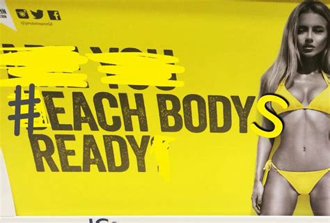 World Of Beer Intern quot beach body quot protein world ad sparks ire in the uk