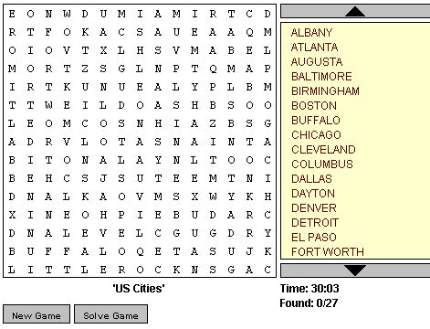Free Search On Line Playable Word Search Puzzles Search Engine At Search