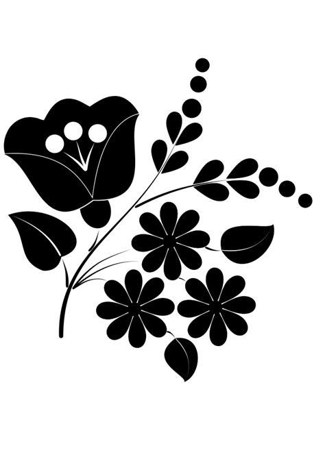 onlinelabels clip art flower ornament folk art