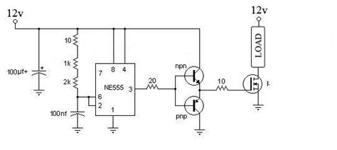 driver de transistor mosfet 555 to drive a mosfet electrical engineering stack exchange