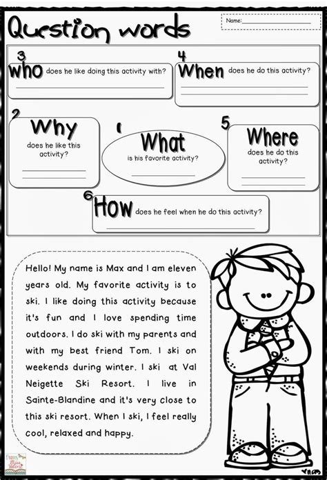wh question worksheets wh questions this