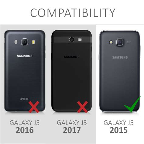 P Samsung J5 Flip Cover For Samsung Galaxy J5 2015 Slim Back Shell Mobile Phone Ebay
