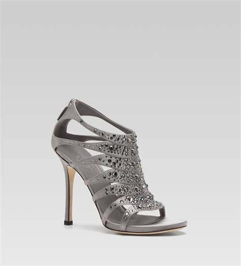 gucci high heel gucci soraya high heel sandal with strass embroidery in