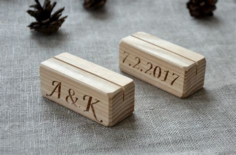wooden number holders 19 00 usd 10 personalized wood place card holders for