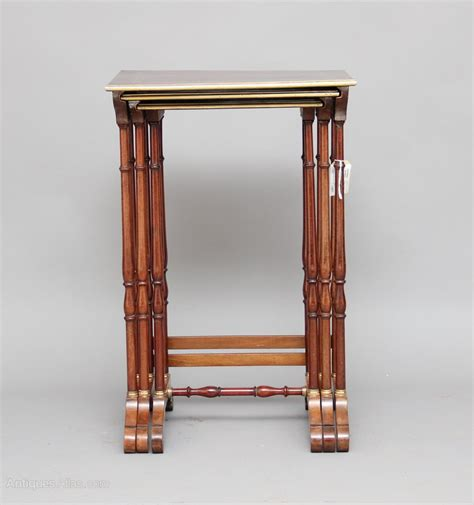 antique nesting tables with inlay brass inlaid nest of tables antiques atlas
