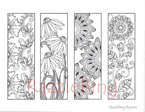 school doodle colouring bookmarks diy bookmark printable coloring page zentangle inspired
