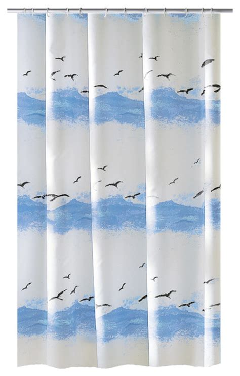 Seaside Shower Curtains Design Fabric Shower Curtain Seaside Style Shower Curtains By Vita Futura