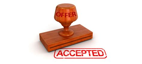 Accept Offer Offer Accepted Now What