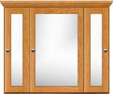 36 inch medicine cabinet strasser woodenworks 76 154 traditional 36 quot triview