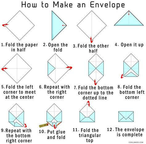 Folding Paper Into Envelope - how to make your own origami envelope from paper