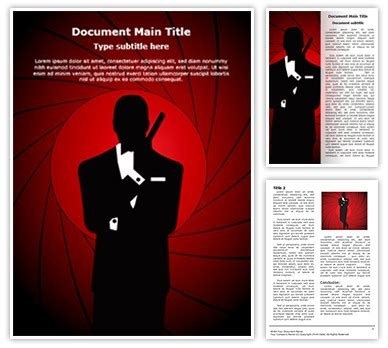powerpoint templates james bond james bond editable word template and design