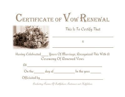 vow renewal certificate template free printable vow renewal certificate prayers quotes