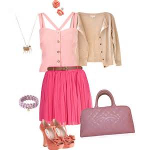 pink cute polyvore