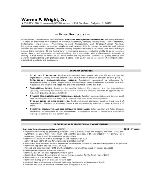 Auto Repair Sle Resume by Warren Wright Sales Resume