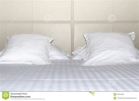 white bed pillows bed with pillows stock photo image 53787592