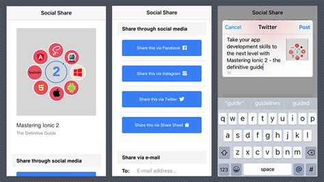 ionic tutorial resources adding social sharing to ionic apps