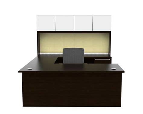 U Shaped Desks With Hutch U Shaped Office Desk With Glass Doors Hutch Ch V 675 Desks