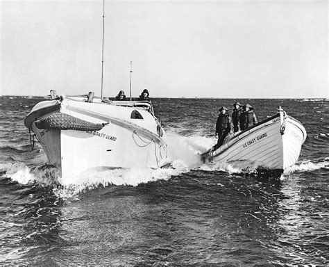 coast guard small boat rescue coast guard surf rescue boats photograph by underwood archives