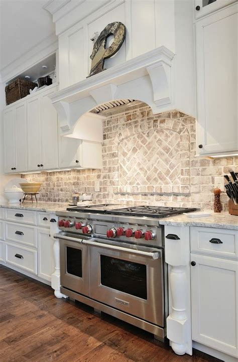 kitchens with backsplash 30 practical and really stylish brick kitchen backsplashes digsdigs