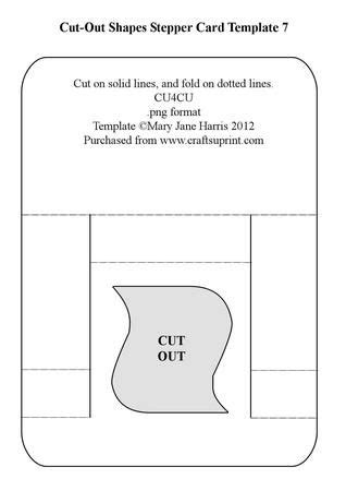card cut out template 17 best images about a stepper card template on