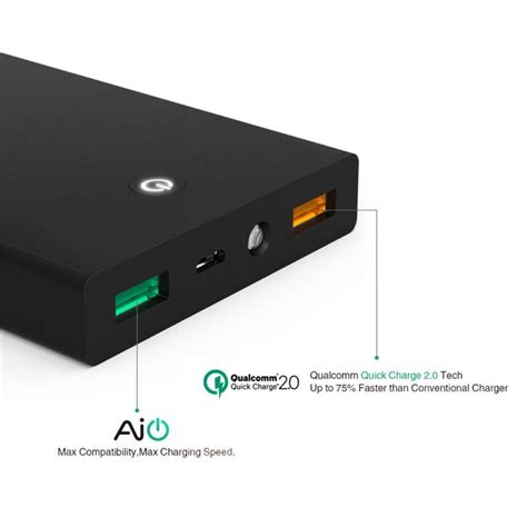 Power Bank Aukey aukey 12000mah charge 2 0 power bank portable battery