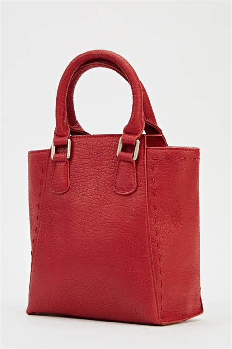 Top Five Mock Croc Bags by Mock Croc Burgundy Handbag Just 163 5