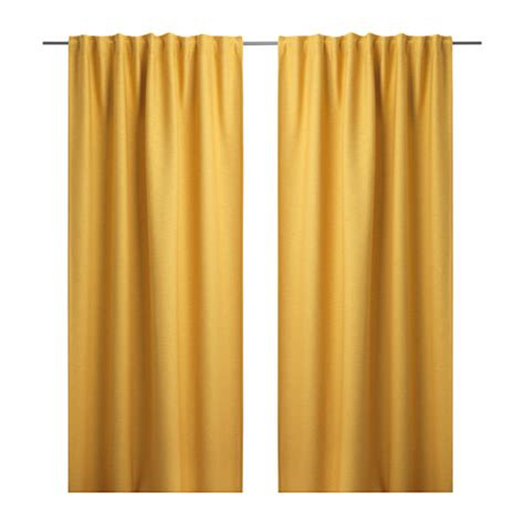 yellow curtains ikea vilborg curtains 1 pair yellow 145x300 cm ikea