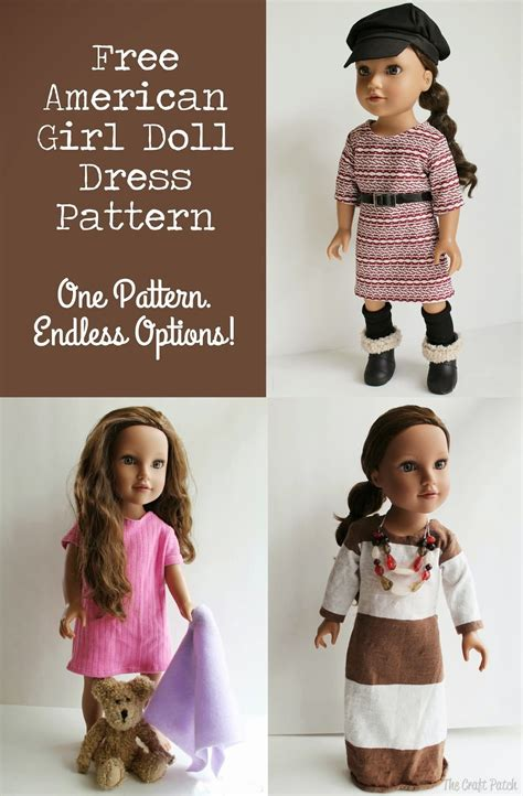 Living A Doll S Life Free Patterns American Doll Clothes Templates