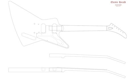 Guitar Router Templates by Gibson Explorer Router Templates Electric Herald