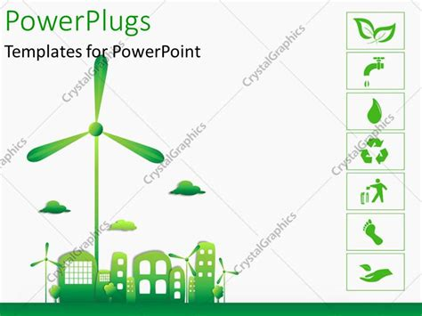 templates powerpoint ecology powerpoint template green and ecology city with various