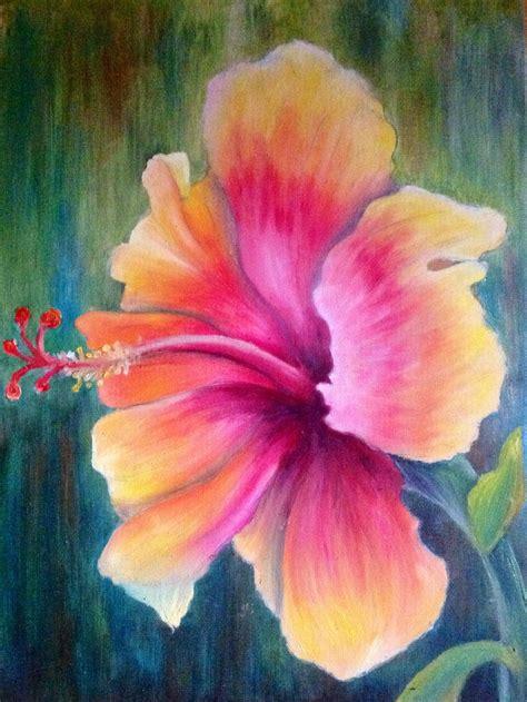 hawaiian flower painting tropical flower paintings www imgkid the image kid