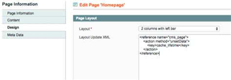 layout update xml cms page magento preventing specific section of home page from being cached
