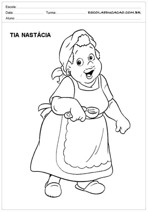 Atividade Monteiro - Colorir - Tia Nastácia   Atividade
