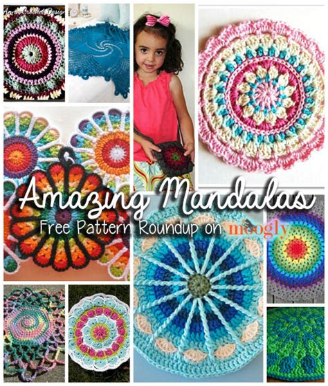 10 fun free african flower motif patterns moogly mandalas crochet patrones imagui