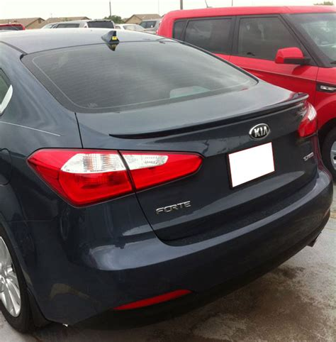 Kia Forte Spoiler Kia Forte Sedan Lip Mount Painted Rear Spoiler 2014 2015